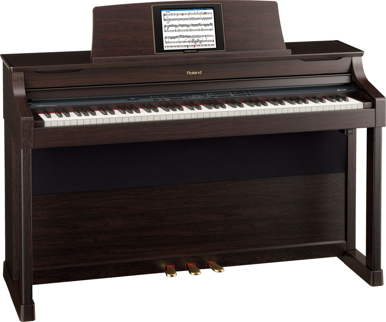 wooden digital piano by roland